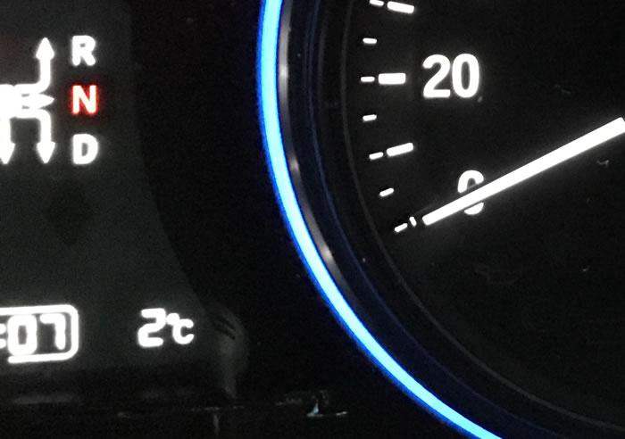 高知の気温(ヴェゼル)