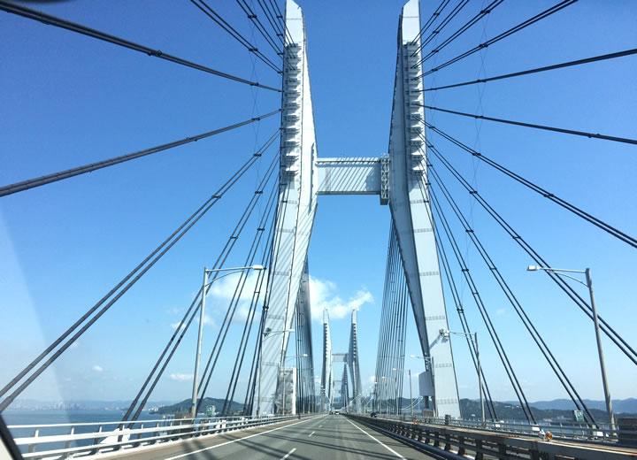 ヴェゼルで瀬戸大橋を渡る
